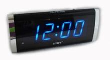 Настольные часы с будильником от сети с синей подсветкой VST-730-5 CH-952