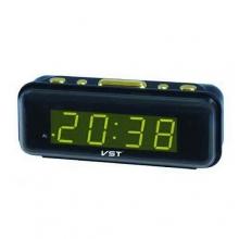 Настольные часы с будильником от сети с ярко-зеленой подсветкой VST-738-4 CH-957