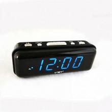 Настольные часы с будильником от сети с синей подсветкой VST-738-5 CH-958
