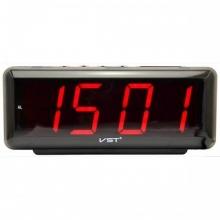 Настольные часы с будильником от сети с красной подсветкой VST-762-1 CH-959