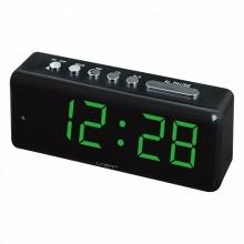 Настольные часы с будильником от сети с зеленой подсветкой VST-762-2 CH-960