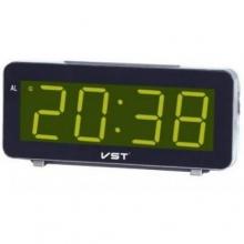 Настольные часы с будильником от сети с ярко-зеленой подсветкой VST-763-4 CH-964