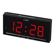 Настольные часы с будильником от сети с красной подсветкой VST-778-1 CH-966