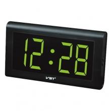 Настольные часы с будильником от сети с зеленой подсветкой VST-778-2 CH-967