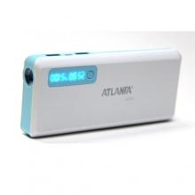 зарядка портативная Power Bank AT-D2032+2USB+фонарик+индикатор 12000 mAh