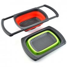 Многофункциональная разделочная доска foldable flexible washing baskets JM-608