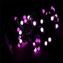 гирлянда черная (шарики, розовые) 100 лампа