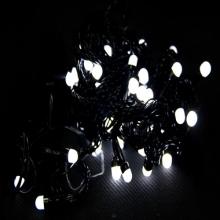 гирлянда черная (шарики, белые) 100 лампа
