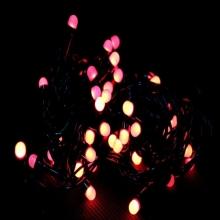гирлянда черная (шарики, красные) 100 лампа