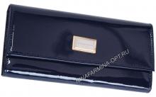 Кошелёк NF-9280_Dark_Blue Лакированная кожа