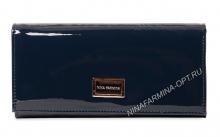 Кошелёк NF-9281-Dark-Blue Лакированная кожа