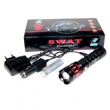 фонарик+аккумулятор+зарядка от сети+авто NGY-K168