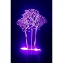 3D ночник Розы (3 режима) 1097