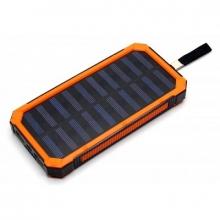 Зарядка портативная Power Bank+2USB+солнечная батарея+фонарик CL02 20000 mAh