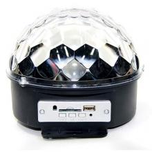 диско шар+светомузыка+USB+SD+радио