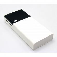 Зарядка портативная Power Bank+2USB кожанный 12000 mAh (MM17830-68)