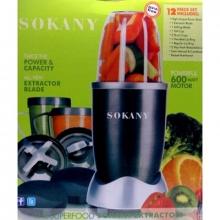 Измельчитель-блендер многофункциональный SOKANY (NutriBullet) 12в1, мощность 600w