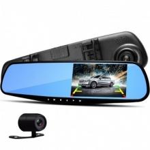 Зеркало+камера заднего вида+регистратор 4,3 дюйм