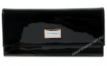 Кошелёк nf-9280-030-black Лакированная кожа