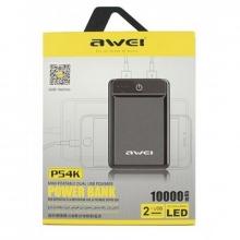 Зарядка портативная Power Bank 10000 mAh Awei P54K