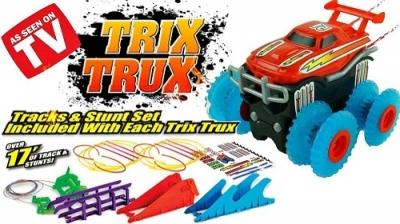 Машинки Trix Trux с препятствиями