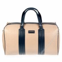 Дорожная сумка кожаная xl8603-apricot-grey